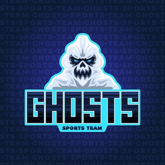 Mascot logo design with ghost