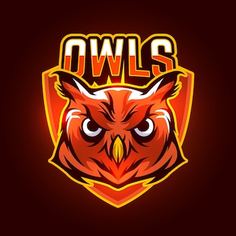 Mascot logo design with owl
