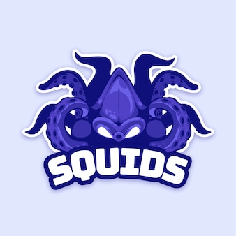 Mascot logo design with squid