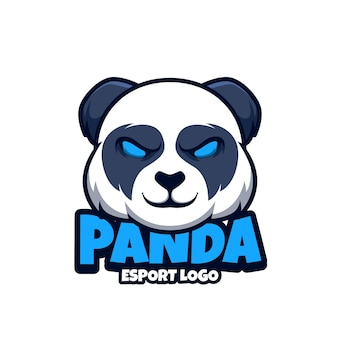 Логотип талисмана для киберспорта с пандой