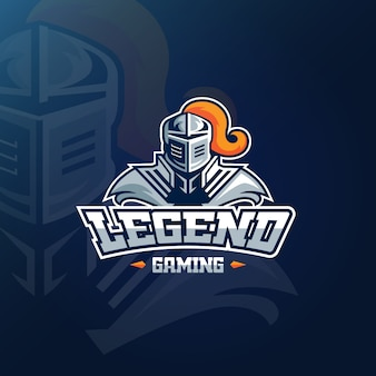 Mascot logo for gaming concept