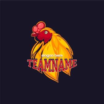 Mascot logo template theme