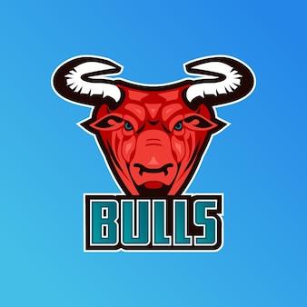 雄牛とマスコットのロゴ