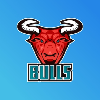 Mascot logo with bulls