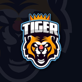 Mascot logo with tiger