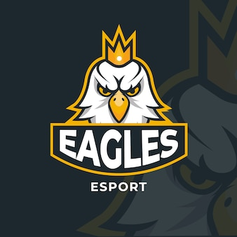 Mascot logo with with eagle