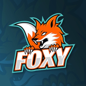 Mascot logo with with fox