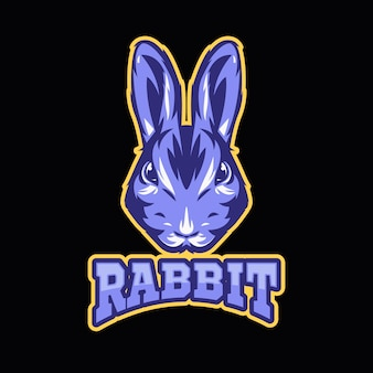 Mascot logo with with rabbit