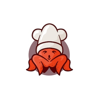 Mascot octopus illustration, perfect for logo market, food or etc