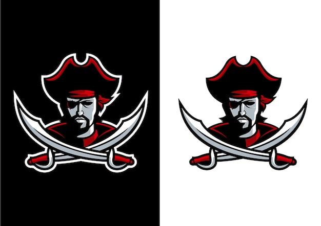 마스코트 해적 로고