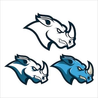 Логотип логотипа mascot rhino