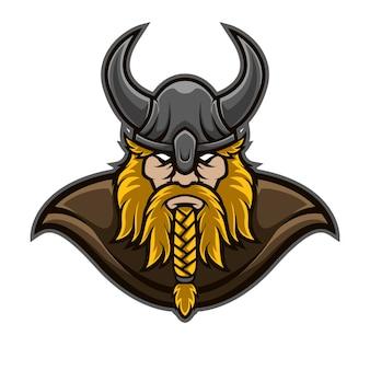 Логотип mascot viking