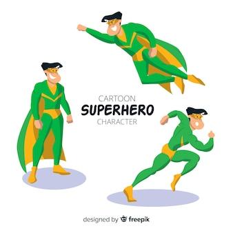 Collezione di supereroi mascolino dei cartoni animati