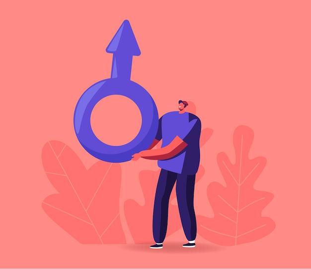 Masculinity, man and testosterone illustration