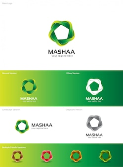 Mashaaロゴ Premiumベクター