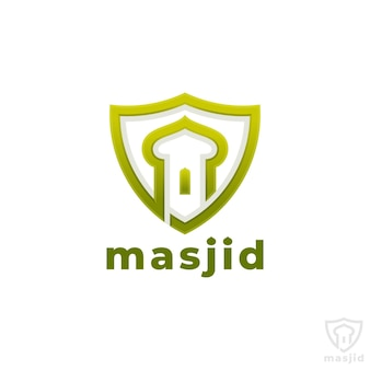 Masjid-イスラムモスクのロゴテンプレート
