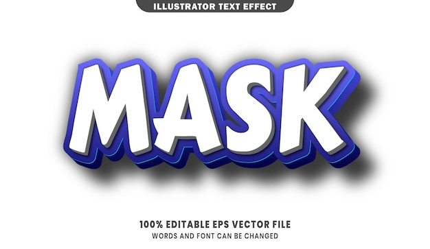 Mask 3d editable text style effect