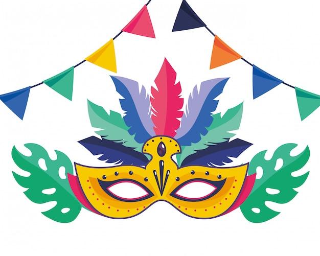 Mask brazil carnival vector illustration