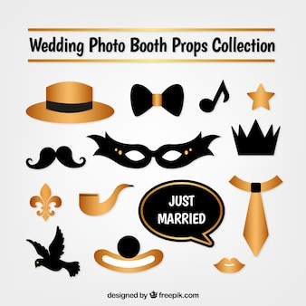 Mask collection and golden photo booth