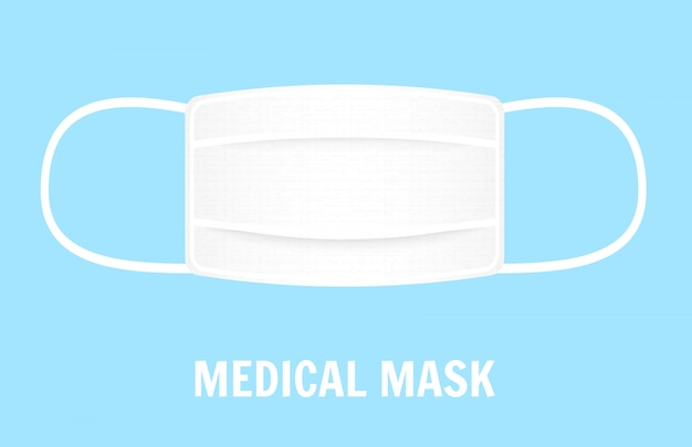 Mask to cover the mouth and nose. protection concept.  illustration