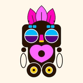 Значок идола маски. мультфильм маски идол векторный icon для веб-дизайна