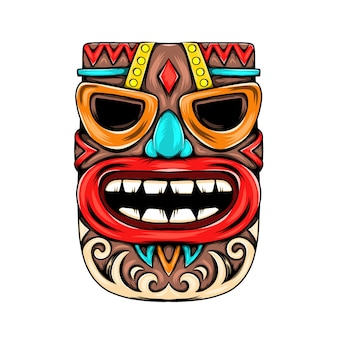Mask inspiration with blue nose for the party in the tiki island