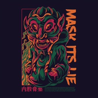 Mask its lie illustration