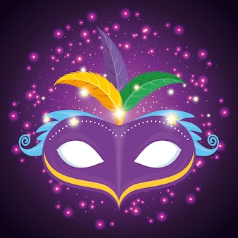 Mask mardi gras carnival
