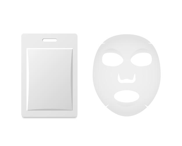 Mask sachet vector.