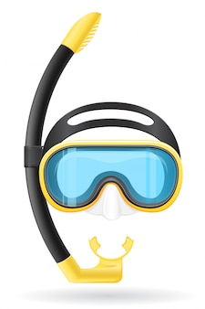 Mask and tube for diving.