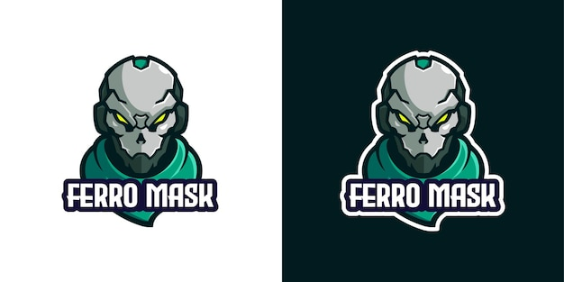 Masked armor mascot character logo template