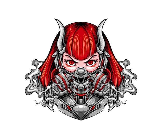 Masked girl illustration