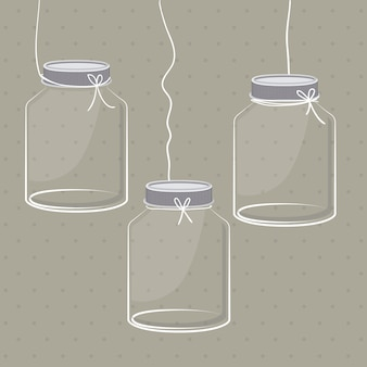 Mason jar digital design