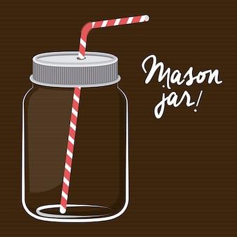 Mason jar digital design