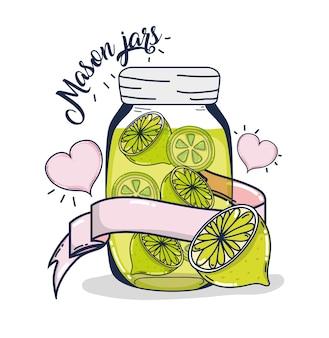 メーソンジャー、レモネードジュース