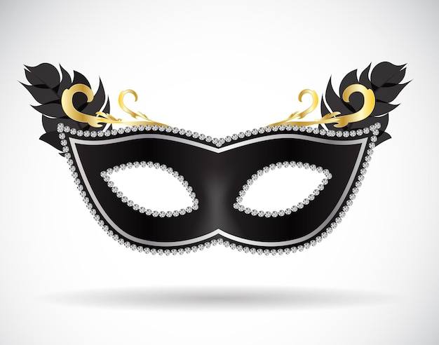 Маскарад карнавал маска значок векторные иллюстрации