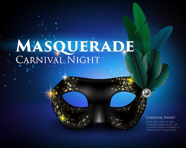 Masquerade mask background