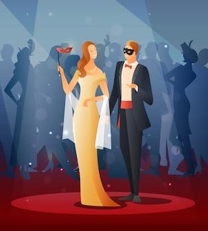 Masquerade party illustrations