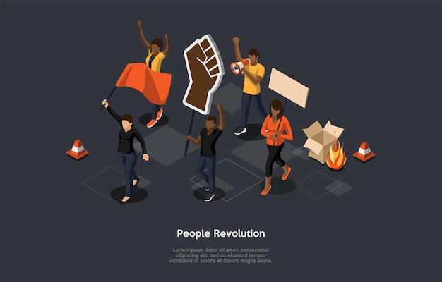 Концепция действий массового протеста.