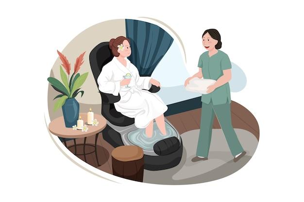 Концепция иллюстрации услуги массажа