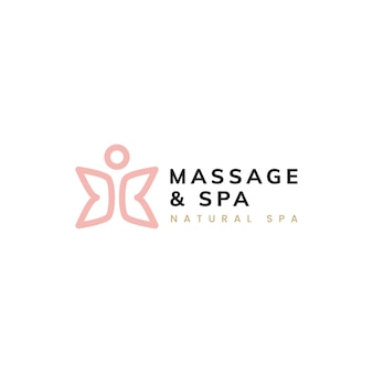 Massage and spa healthy life logo vector