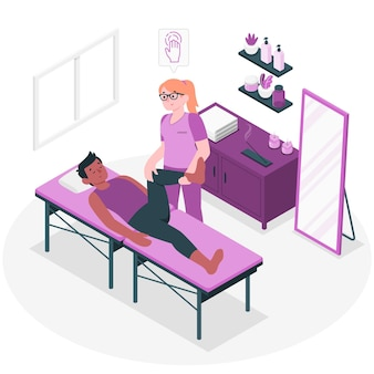 Massage therapist concept illustration