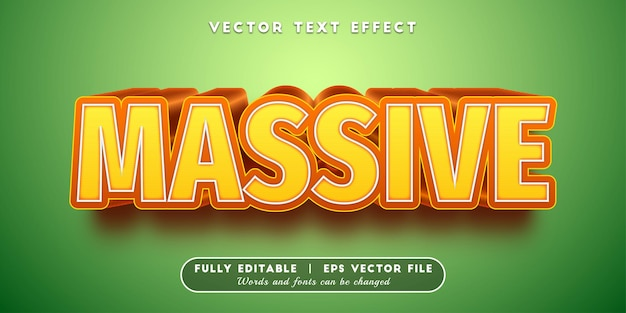 Massive text effect, editable text style