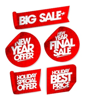 Massive winter sale  with shopping bag.