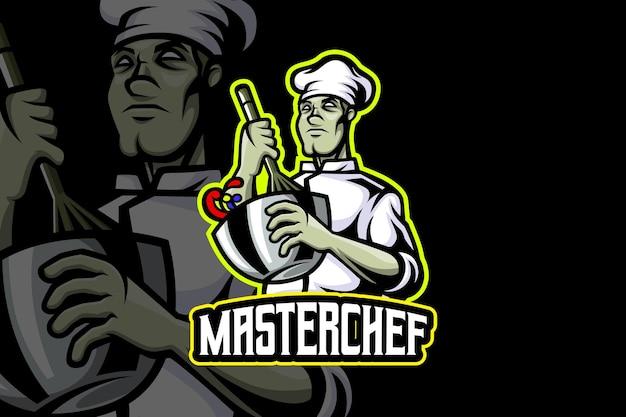 Шеф-повар - шаблон логотипа киберспорта