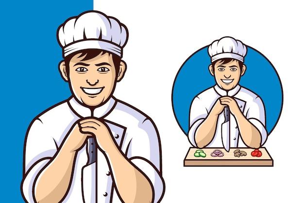 Логотип ресторана шеф-повар