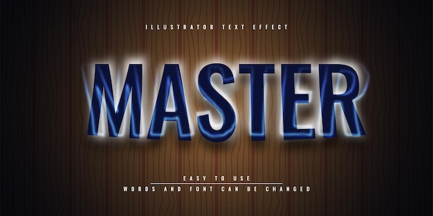 Редактируемый дизайн шаблона 3d текстового эффекта master illustrator