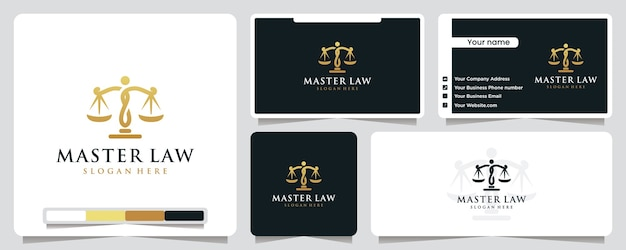 Master law logo illustration