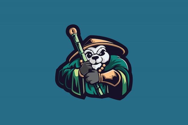 Master panda esport mascot