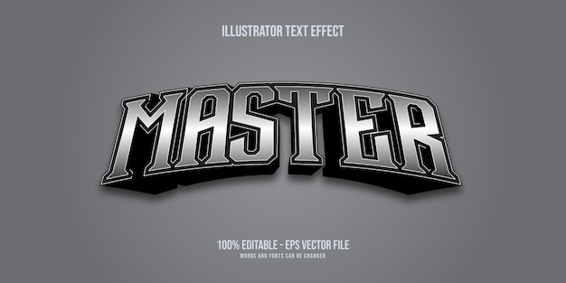 Master silver text style effect